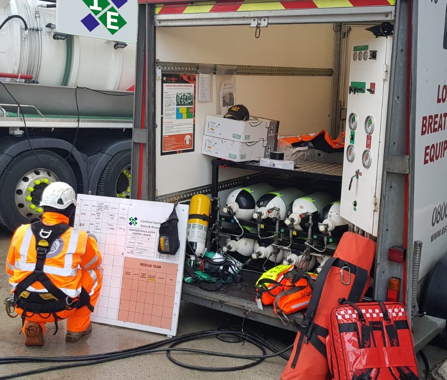 Confined Space Rescue Cover at Energy from Waste Plant